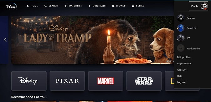 Home Page Disney
