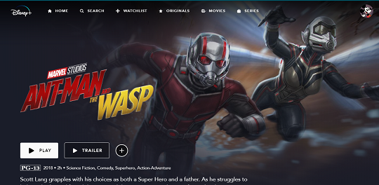 ant man and wasp on Disney Plus